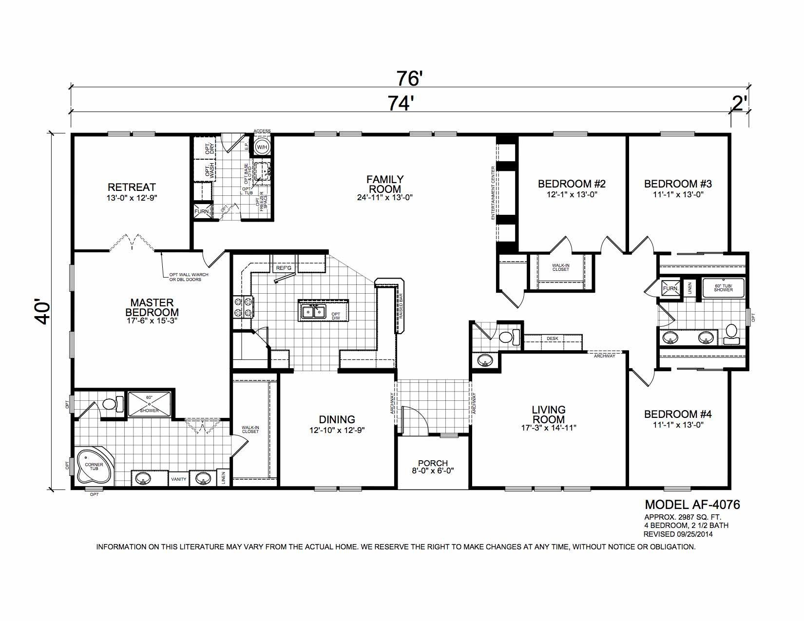 Homes Direct Modular Homes - Model AF4076 - Floorplan