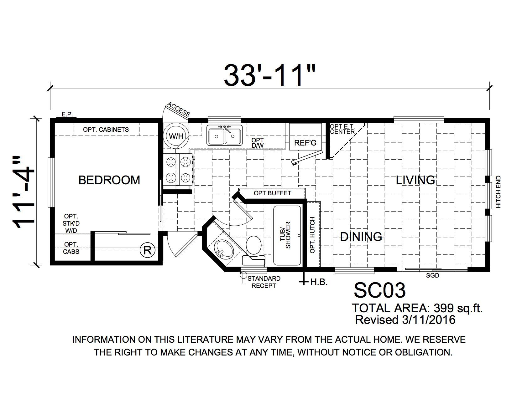Homes Direct Modular Homes - Model SC3 - Floorplan