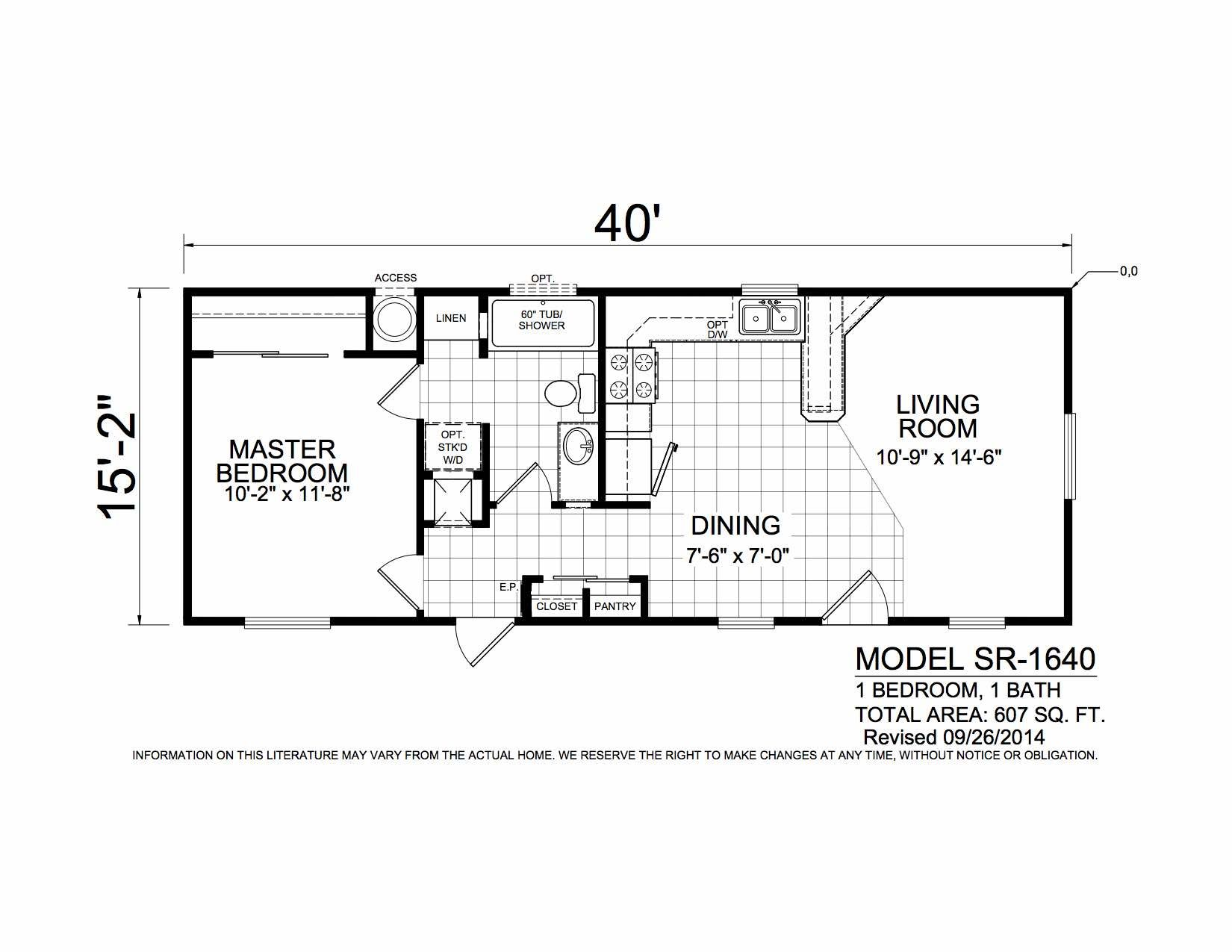 Homes Direct Modular Homes - Model SR1640 - Floorplan