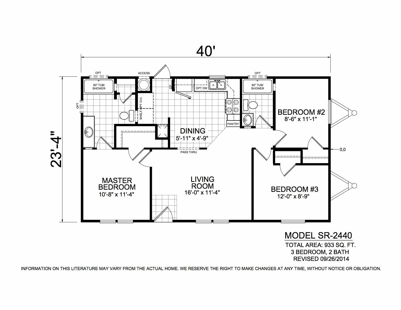 Homes Direct Modular Homes - Model SR2440 - Floorplan