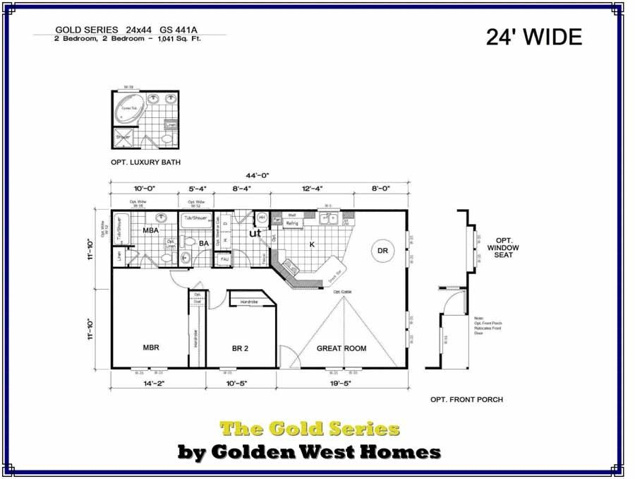 Homes Direct Modular Homes - Model GS441A - Floorplan