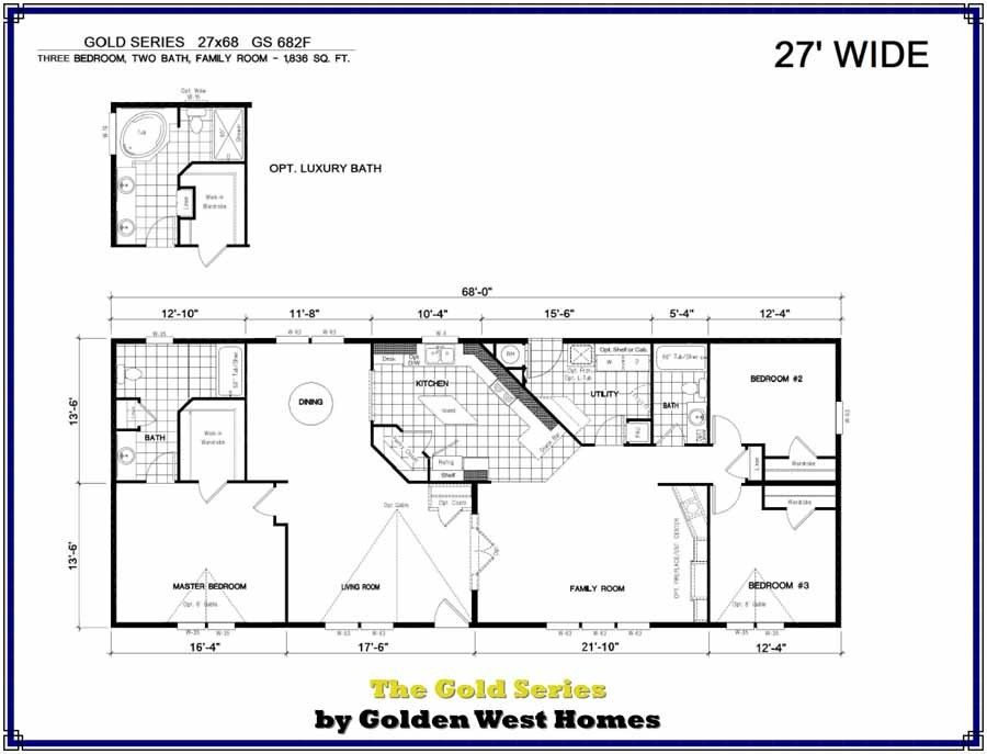 Homes Direct Modular Homes - Model GS682F - Floorplan