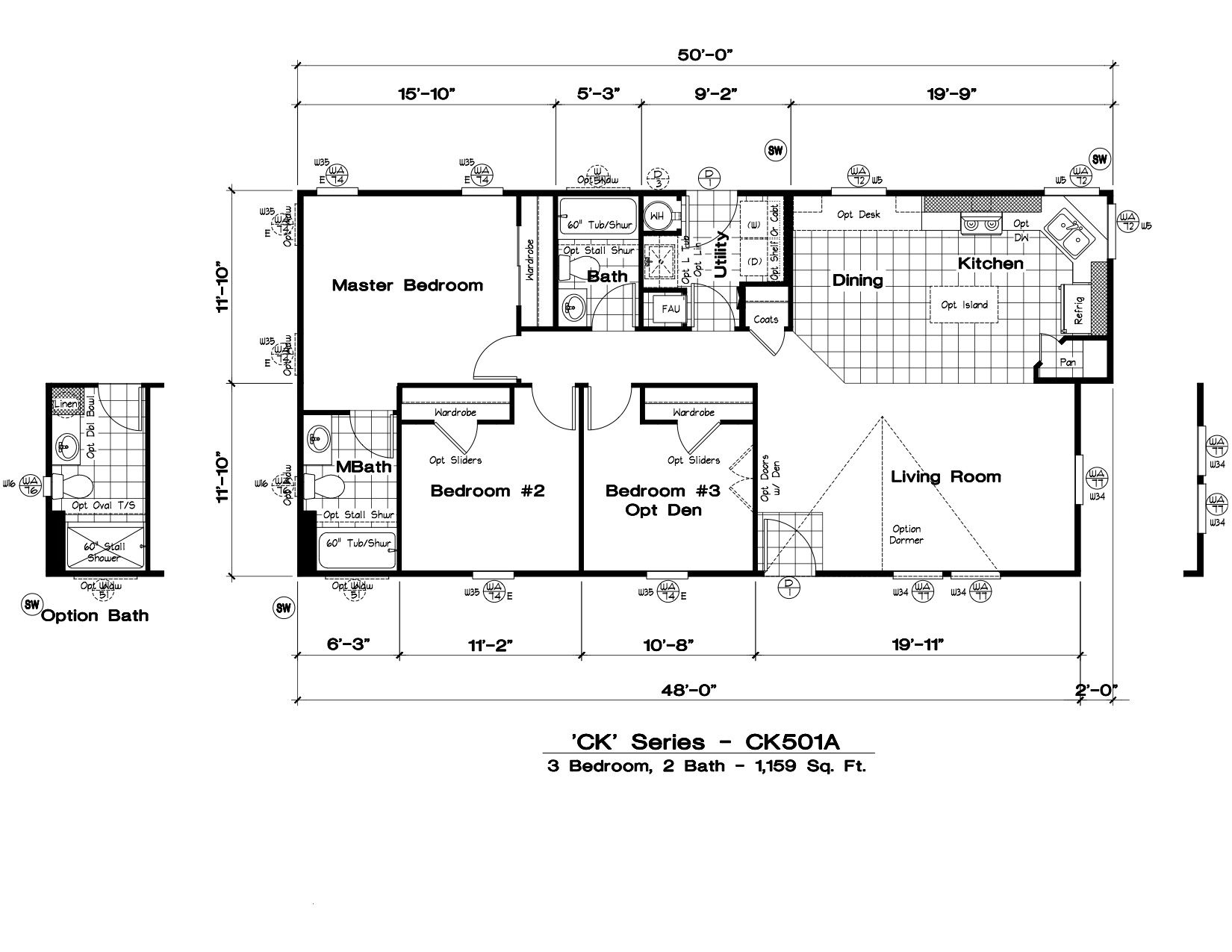Homes Direct Modular Homes - Model CK501A - Floorplan