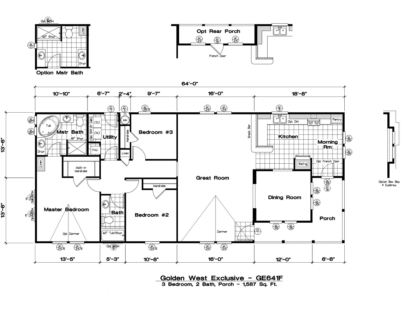 Homes Direct Modular Homes - Model GE641F - Floorplan