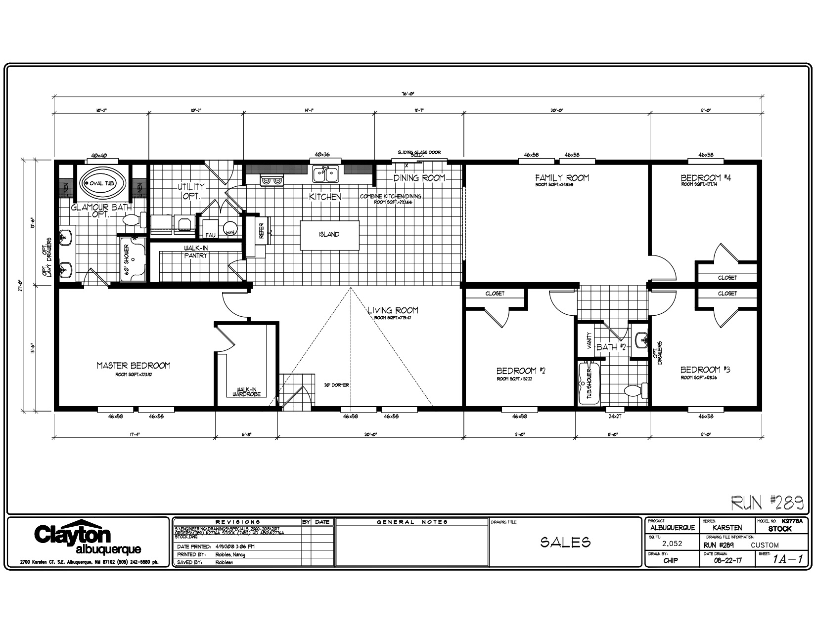 Homes Direct Modular Homes - Model K2776A - Floorplan
