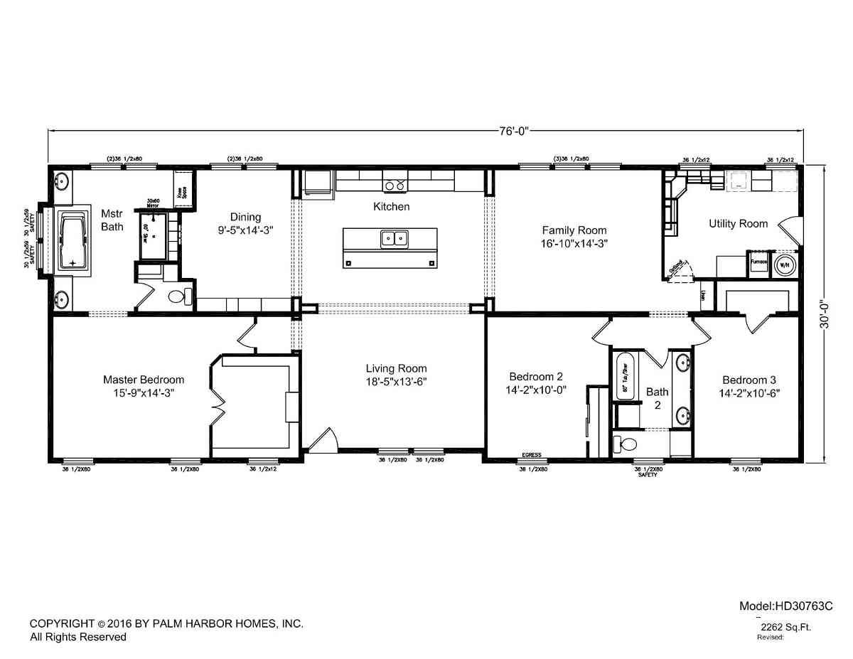 Homes Direct Modular Homes - Model HD30763C - Floorplan
