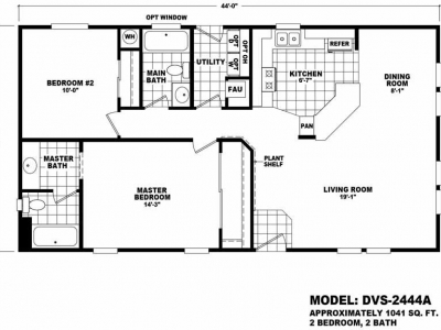 Homes Direct Modular Homes - Model Value 2444A