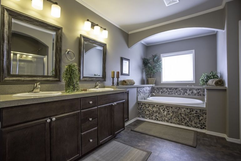 Manufactured Home Bathroom Design from Karsten Model 3056